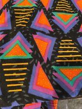 NWOT Lularoe TC Leggings Geometric Print Black Purple Orange