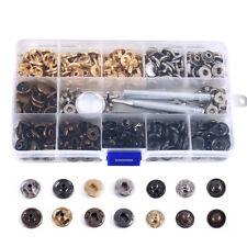 100er  Druckknopf Metall Set Persenning Plane Nähfrei Buttons Werkzeug 12.5mm