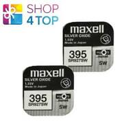 2 MAXELL 395 399 SR927SW BATTERIES SILVER 1.55V WATCH BATTERY EXP 2022 NEW