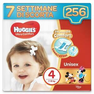 Huggies Pannolini Ultra Comfort Taglia 4 Maxi Confezione da 256 Pannolini (7 Set
