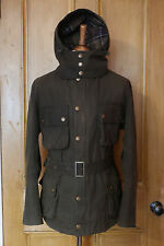 £249 rare Mens Barbour Pegasus (Ursula) waxed olive biker jacket XL with hood