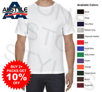 3 Pack - AAA Alstyle T-Shirts Plain Cotton Assorted Color Blank Tees 1301 S-3XL