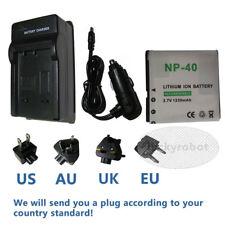 NP-40 PAC-0040 Battery for Otek DVH580 DVV5B7 DVV5B8 DVV5C0 Camera + Charger