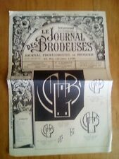 LE JOURNAL DES BRODEUSES JOURNAL PROFESSIONNEL N°749 1987