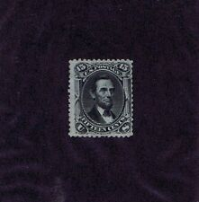 SC# 77 UNUSED RE-GUMMED 15 CENT LINCOLN, 1866, HIGH CV, WEISS CERT, LOOK!