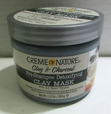 Creme Of Nature Clay & Charcoal Pre-shampoo Detoxifying Clay 11.5 Ounce