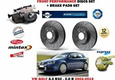 FOR VW GOLF 3.2 2.0 R32 R 2002-2013 FRONT PERFORMANCE BRAKE DISCS SET + PADS KIT