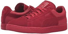 PUMA 361372 Suede Classic Casual Emboss Fashion Sneaker Shoes, SIZE 10, Red, $80