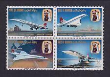 Bahrain - SG 232/5 block - u/m - 1976 Concorde