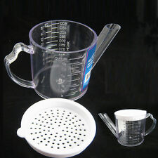 Gravy Oil Fat Separator Measuring 2 Cups  w/ Strainer Seperator Measurer Kitchen