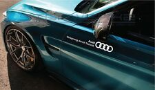 "Audi Vorsprung Decal Sticker logo A4 S4 S3 S5 TT S4 RS5 RS7 Q5 SQ5 Q3 12"" Pair"