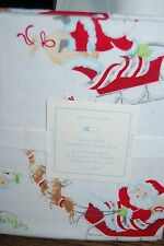 Pottery Barn Kids Christmas Santa's Sleight  Crib Fitted Sheet NEW