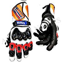 MOTO GP PRO MOTORCYCLE MOTORBIKE LEATHER RACE RACING TRACK SPORTS GLOVES