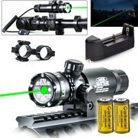 Tactical Military Green Dot Laser Sight Rifle Gun Hunt Scope Rail Remote Switch