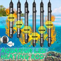 200-1200W Submersible Heating Rod Sticker Water Heater LED Aquarium Fish Tank