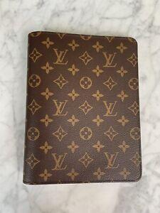 Authentic LOUIS VUITTON Desk agenda Notebook Cover MM