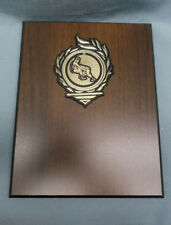 WRESTLING trophy award 7 x 9 black edge plaque cherry finish