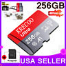 256GB Micro Memory SD Card 4K Class10 Flash TF Card with Adapter Fr Phone USA
