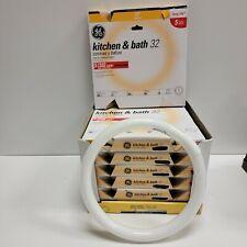 7 - GE 32W FC12 T9 Circline Circular Fluorescent LIGHT BULB 11085 Warm White 12