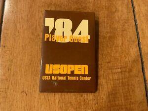 1984 US OPEN PLAYER GUEST BADGE BUTTON PIN PINBACK TENNIS SUPER RARE VINTAGE