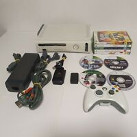 Microsoft Xbox 360 60GB White - 9 Games - Controller - Charger - Spare Battery
