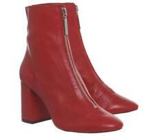 Botas de mujer rojos de piel, talla 39
