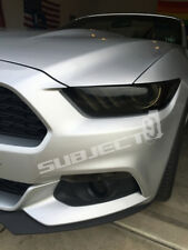 2015-2017 Mustang tinted smoked pre cut vinyl overlays headlight full FRONT kit