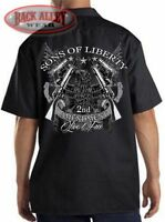 SONS OF LIBERTY Dickies Mechanics Work Shirt ~ Live Free ~ 2nd Amendment Guns