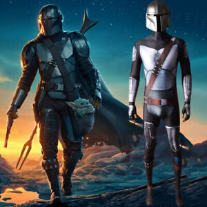 Mandalorian Jumpsuit Star Wars Tights Cosplay Costume For Adult & Kids Halloween