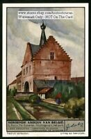 Belgium Abbey Ter Kameren Church Architectue 1930s Trade Ad Card