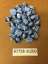 Set of 100 Blue Nylon Rocker Panel Molding Clips Sealer Fits Hyundai 87758-3L000