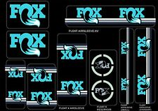 FOX Racing Shox Factory Style Decal Kit Sticker Adhesive Set Turquoise