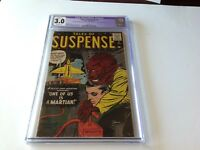 TALES OF SUSPENSE 4 CGC 3.0 ROCKET MARTIAN COVER DITKO KIRBY ATLAS COMICS