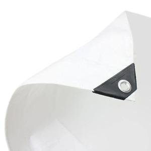 1 x White Tarpaulin Medium Duty 110gsm 7.0m x 11.0m (23ft x 35ft)