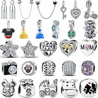Wostu European DIY Multiple 925 Sterling Silver Charm Beads Fit Bracelet Jewelry