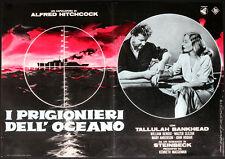 CINEMA-fotobusta PRIGIONIERI DELL'OCEANO a. hitchcock