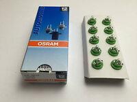10 Stück Osram Lampen 12V 2W B8,5d W2W Innenbeleuchtung 2722MF Glühlampe