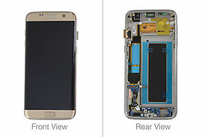 Genuine Samsung Galaxy S7 Edge G935 Gold LCD Screen & Digitizer Complete - GH97-