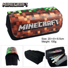 Minecraft Pencil Case Double Zipper Cosplay Storage Bag Stationery Container