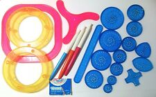 1986 Kenner SPIROGRAPH Wheels Rings Racks gears Pens Parts Only Lot
