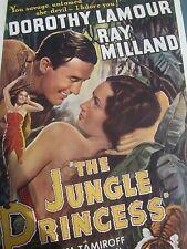 The Jungle Princess Lamour Vintage MOVIE POSTER REPRINT OF 1916 ORIGINAL RARE