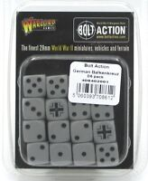 Bolt Action 408402001 German Balkenkreuz D6 Pack (16 Dice) Grey & Black WWII