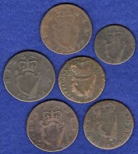 More details for ireland, charles ii, william & mary, george ii & george iii coppers (ref. t3756)