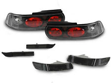 COMBO 91-95 Toyota MR2 MR-2 SW20 Blk Tail+Smoke Bumper Signal+Side Marker Lights