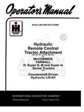 FARMALL Hydraulic Remote Control M MD MV MDV Sup Manual