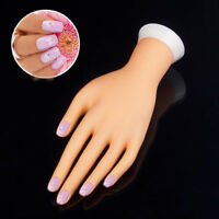 EE_ AG_ AU_ Bendable Table Mount Manicure Practice Model Nail Art Training Faux