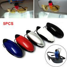 5pc Car Auto Sun Visor Clip Holder For Glasses Sunglasses Eyeglass Card US stock