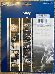 2002 SCOTT #3772  SOUVENIR SHEET PANE FILMMAKING  10 x 37