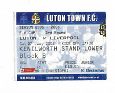 Ticket 2005/06 FA Cup 3rd Round - LUTON TOWN v. LIVERPOOL
