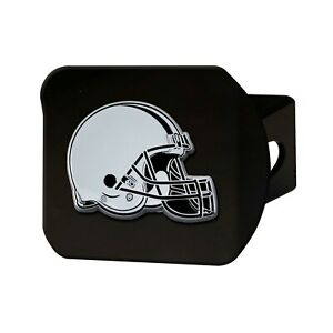Fanmats NFL Cleveland Browns 3D Chrome on Black Metal Hitch Cover Del. 2-4 Days